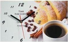Dekoračné nástenné hodiny s kávou Coffee Time, Incense, Clock, Tableware, Wall, Decor, Watch, Dinnerware, Decoration