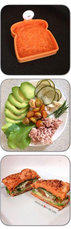 Sandwich de zanahoria, receta saludable en www.blovver.com