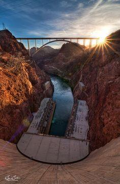 "Nevada, USA | ""Hover Dam Sun Burst"" by Björn Burton"