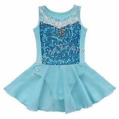 Toddler-Girls-Gymnastic-Leotard-Dress-Ballet-Tutu-Skirt-Dance-wear-Skate-Costume