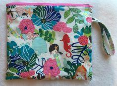 Zippered Waterproof Wet Bag by LexieLooo on Etsy https://www.etsy.com/listing/228734964/zippered-waterproof-wet-bag