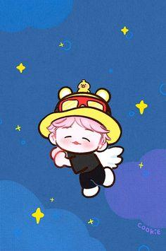 Baekhyun Fanart, Kpop Fanart, Chanbaek, Exo Fan Art, Exo Memes, Bts Chibi, K Idols, Hello Kitty, Kawaii