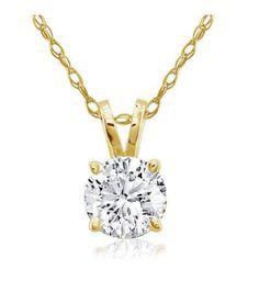 Diamant Anhänger Solitär 0.25 Karat aus Gelbgold G/P1. Diesen Diamantanhänger bei www.juwelierhausabt.de inklusive Zertifikat und Schmucketui versandkostenfrei für nur 399.00 Euro bestellen.