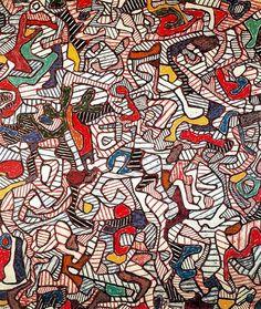 jean dubuffet paintings | Jean Dubuffet . Marejada de lo virtual (1963). Oleo sobre tela,