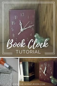 DIY Book Clock Tutorial Now here's a unique piece of art that ought to be on every book lover's shelf! A one-of-a-kind gift or a treat for yourself, this handmade clock is super easy to customize! You can make one in just a couple of hours, so keep *reading*! *No priceless Classics were harmed in the creation of this clock or tutorial. This copy of Twice Told Tales by Nathaniel Hawthorne was valued at about $10 before I cut into it. Now, to me, it's priceless. ;)
