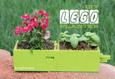 For the Kid in All of Us: #DIY LEGO Planter #MothersDay Activity