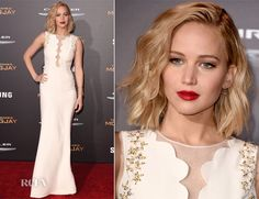 Jennifer Lawrence In Christian Dior – 'The Hunger Games: Mockingjay – Part 2' LA Premiere