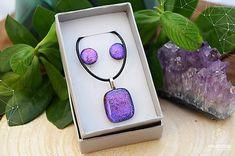 AngelEve / Fialovo-ružová sada sklenených šperkov Jewelry Art, Jewellery, Open Art, Pendant Necklace, Rings, Jewels, Schmuck, Ring, Jewelry Rings