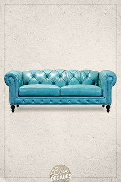 Higgins Chesterfield sofa in special-order Brighton Oceanic Sofa Furniture, Furniture Design, Sofa Bench, Couch, Quality Furniture, Creative Home, Chesterfield Sofas, Decoration, Living Room Decor