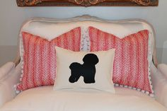 Bichon Frise Silhouette Pillow Cover by ThePillowChicks on Etsy, $25.00