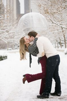 Chicago winter engagement shoot