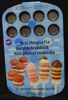 Mini Whoopie Pie Pan 24 Cavity - Push Pop Cake Pan