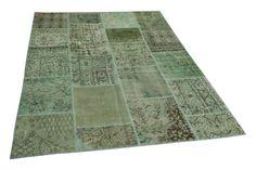groen patchwork vloerkleed 240cm x 170cm nr8923
