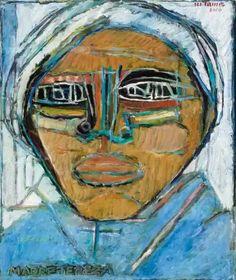 Moshe Tamir - Madre Teresa (2000),  Oil on canvas,  50x60cm