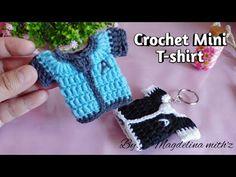 Crochet Mini T-shirt ~~keychain @ casing Perfume car - YouTube Doll Dress Patterns, Shawl Patterns, Crochet Stitches Patterns, Applique Patterns, Stitch Patterns, Crochet Car, Crochet T Shirts, Crochet Bebe, Crochet Motif