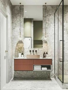 34 Beautiful Bathroom Color Scheme Ideas for Small & Master Bathroom – housedecor Bad Inspiration, Bathroom Inspiration, Modern Bathroom Design, Bathroom Interior Design, Minimal Bathroom, Bathroom Designs, Bathroom Ideas, Casa Milano, Casa Top