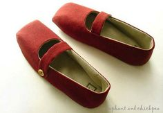 Pomegranate House Slippers by Elephant and Chickpea