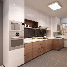 Browse photos of Small kitchen designs. Discover inspiration for your Small kitchen remodel or upgrade with ideas for organization, layout and decor. Modern Kitchen Cabinets, Kitchen Cabinet Design, Modern Kitchen Design, Interior Design Kitchen, Wooden Cabinets, Kitchen Layout, Kitchen Sets, New Kitchen, Kitchen Dining