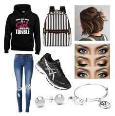 """""""Meeting Dick Grayson"""" by wildwolf213 ❤ liked on Polyvore featuring WithChic, Alex and Ani, Henri Bendel, Asics and Jewelonfire"""