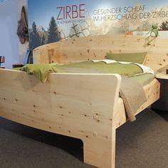 Zirbenbett Mit Sehr Massivem, Gebogenem Kopfteil, Integrierte Ablagen Am  Kopfteil · DIY FurnitureHealthy SLEEPBed ...