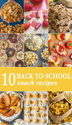 It's almost time to say goodbye to lazy summer days and usher in the busy holiday months. Today we're sharing 10 quick and easy back to school snacks that your entire family can enjoy. via @beckygallhardin