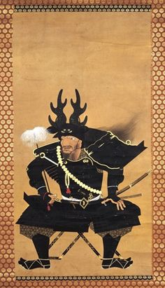 Contemporary print of 17th century Samuai general Honda Tadakatsu. Known as The warrior who transcended death, he is renowned for never having sustained a significant wound, in spite of fighting nearly 100 battles.