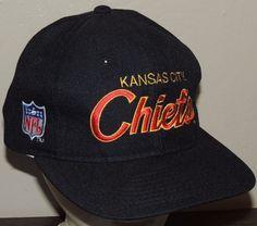 Kansas City Chiefs Vintage Sports Specialties Black Red Script NFL Snapback Hat #KansasCityChiefs