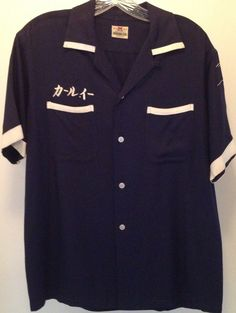 Vintage bowling shirt by theevintageshop on Etsy, $100.00