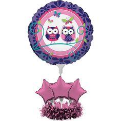 Bulk Owl Pal Birthday Balloon Centerpiece 4 ct - Napkins.com