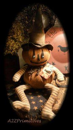 Primitive Jack O Lantern.Halloween Doll