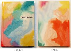 Canvas Sketchbooks - Have the kiddos make custom journals for their teachers or make a pretty journal for yourself!