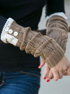 Mocha Lace Arm Warmer