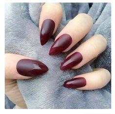 gorgeous maroon nails