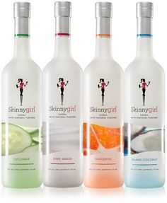 """Only 75 calories per drink. Frankel states in """"Naturally Thin"""" to drink clear drinks and mix with club soda or tonic water. She also recommends drinking a full glass of water after every cocktail. The cucumber  vodka is my favorite! Cheers! www.skinnygirlcocktails.com"""