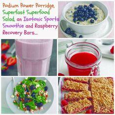 Podium Power Porridge, Superfast Superfood Salad, an Isotonic Sports Smoothie and Rasp...