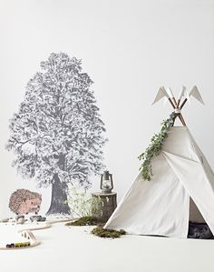 Bring the beauty of nature to your kids room with these amazing stickers and wallpapers ♥♥♥