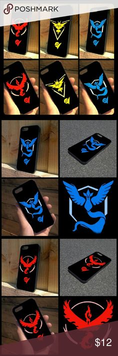 Pokemon Go Team Phone Case-Iphone 6 If you have the game now you can support your team !! I have 1 phone case for each team, so limited supply ;) !! This looks very stylish and lets you support your team while your trying to catch your team  ;D !! Let Me know if you want Team Mystic, Unstinct or Valor !!  Its a Fitted case tyoe and made out of Silicone. Accessories Phone Cases