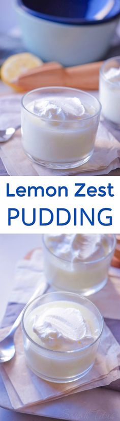 If you're in the mood for something sweet, light, and airy, this lemon zest pudding is PERFECT for you!