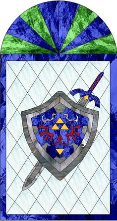 #Zelda stained glass byEulalie
