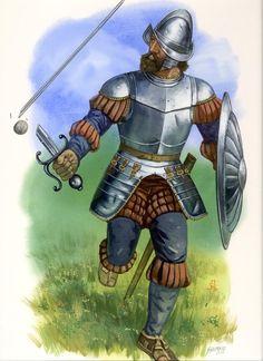 Conquistador, Medieval Armor, Medieval Fantasy, Renaissance, Warhammer Fantasy Roleplay, Bear Paw Print, Terra Nova, Mexican Army, Early Modern Period
