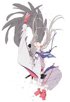 nineeeeeo on touken ranbu Anime Art Girl, Manga Art, Manga Anime, Anime Kimono, Character Concept, Character Art, Concept Art, Touken Ranbu, Desu Desu