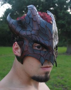 Cracked Earth Great Dragon Leather Mask.