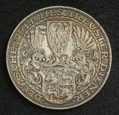 1927 German 5 Reichsmark - Silver Crown