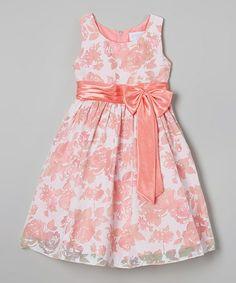 Pink Floral Bow Dress - Toddler & Girls