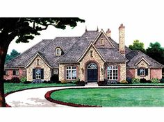 French Country House Plan with 3510 Square Feet and 4 Bedrooms from Dream Home Source | House Plan Code DHSW66559