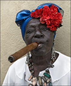 Cuban Woman with Cigar.