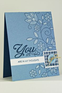 You Are In My Thoughts Card by Erin Lincoln for Papertrey Ink (May 2012)