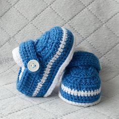 Boy Shoes Baby Boy Shoes Blue Boy Shoes by DaisyNeedleWorks