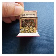Amazingly tiny Hansel & Gretel pop-up theater book - think this would be great as a matchbox-project!