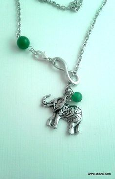 """""""Good Luck"""" Elephant Lariat Style Necklace. Starting at $4 on Tophatter.com!"""